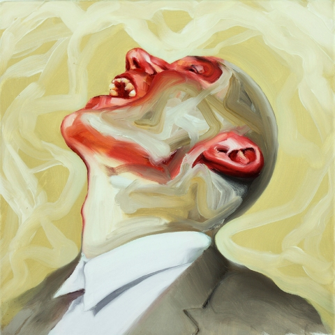 Fool No.2. 40x40 cm. Oil on canvas. 2011.