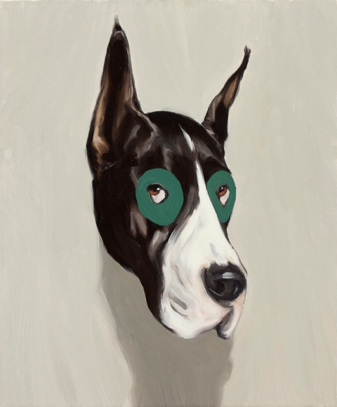 Robin the dog. 60x50 cm. Oil on canvas. 2011.
