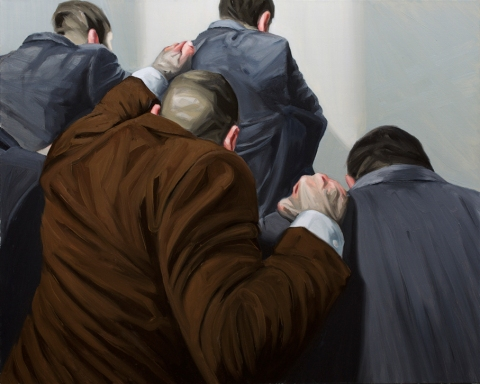 Group dynamics. Oil on canvas. 80x100 cm. 2013