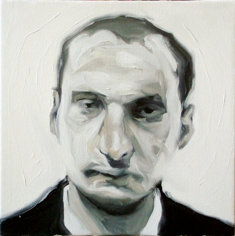 Wroclaw detective. Oil on canvas. 30×30 cm. 2012
