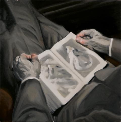 Bergmann. Oil on canvas. 40x40 cm. 2014