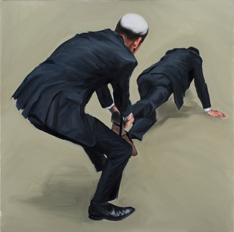 Forward. Oil on canvas. 80×80 cm. 2014