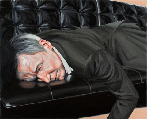 Schläfer. Oil on canvas. 80×100 cm. 2014