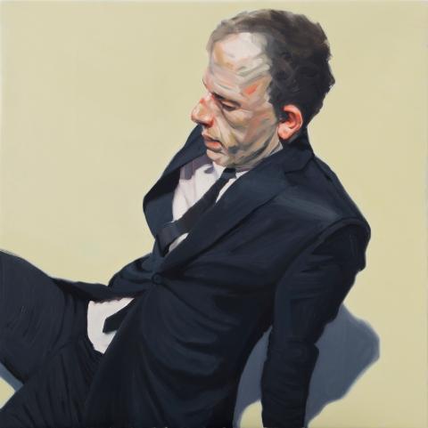 Sitting man. 80×80 cm. Oil on canvas. 2015