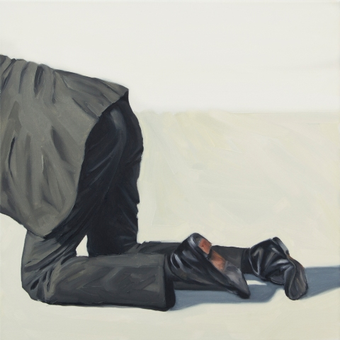 This is how I crawl. 50×50 cm. Oil on canvas. 2015